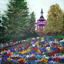 Baum, Tempel, Strauch, Frühling