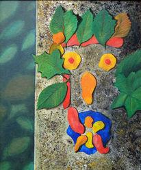Umwelt, Klimaveränderung, Sterbender wald, Malerei