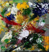Farben, Explosion, Wolken, Malerei