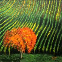 Baum, Weinberg, Herbst, Malerei