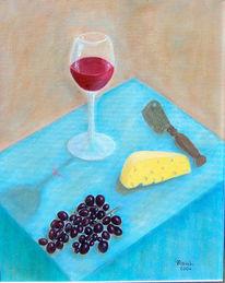 Freizeit, Weinglas, Stimmung, Käse