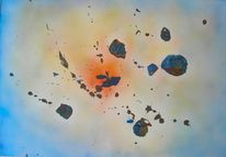 Energie, Airbrush, Universum, Acrylmalerei