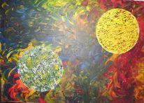 Sonne, Acrylmalerei, Anziehung, Planet