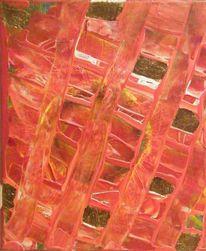 Blattgold, Gold, Augen, Acrylmalerei