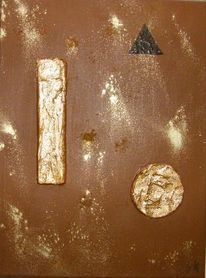Dreieck, Blattgold, Gold, Kreis