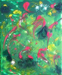 Freude, Farben, Weihnachten, Acrylmalerei
