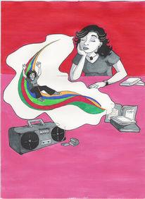 Regenbogen, Traum, Zeichnungen, Träumerei