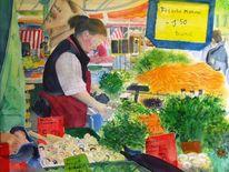 Verkauferin, Prinzipalmarkt, Markt, Obst gemüse