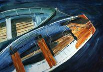 Teich, Meer, Boot, Wasser