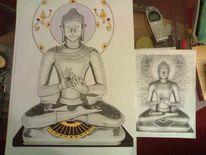 Buddha, Ohm, Religion, Malerei