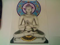 Buddha, Religion, Ohm, Malerei