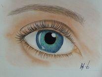 Grün, Augen, Blau, Gesicht