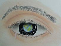 Menschen, Erde, Augen, Zeichnungen