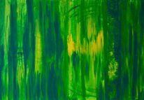 Grün, Abstrakt, Licht, Acrylmalerei