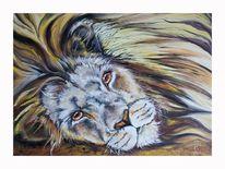 Löwe, Malerei, Tiere