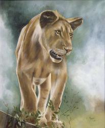 Malerei, Löwin