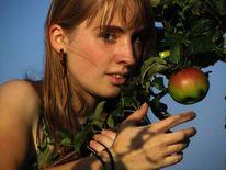 Baum, Apfel, Sommer, Mädchen
