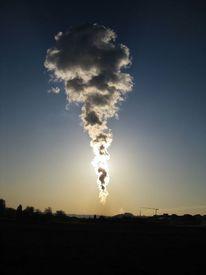 Kernkraftwerk, Wolken, Fotografie