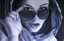 Malerei, Ölmalerei, Kopftuch, Ausdruck