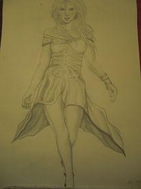 Model, Frau, Kleid, Zeichnungen