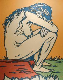 Menschen, Van gogh, Frau, Malerei