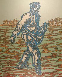 Ölmalerei, Menschen, Van gogh, Malerei