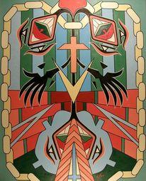 Kirche, Glaube, Ölmalerei, Menschen