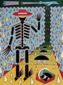 Menschen, Ölmalerei, Abstrakt, Atom