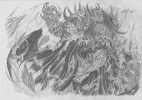 Schatten, Dominanz, Umhang, Kreatur