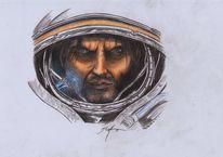 Buntstiftzeichnung, Bleistiftzeichnung, Zukunft, Starcraft