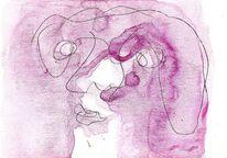 Mund, Augen, Nase, Malerei