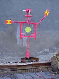 Pink, Aufpasser, Eisenbahner, Flaggenzeichen