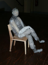 Fünftel, Sitzen, Plastik, Figural