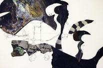 Schwarz, Rabe, Grafik, Abstrakt