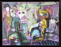 Zufall, Alu, Acrylmalerei, Frau