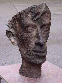 Portrait, Keramik, Erdbrand, Kopf