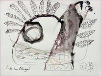 Engel, Feder, Fliegen, Zeichnungen