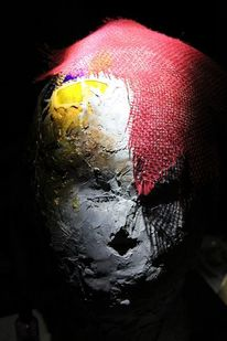 Kopf, Plastik, Farben, Gips