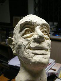 Keramik, Gesicht, Kopf, Portrait
