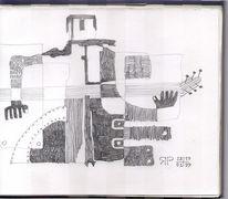 Liebeslied, Bleistiftzeichnung, Elvis, Gitarre