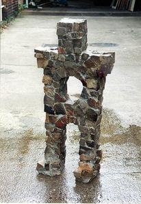 Stoneman, Kopfsteinpflaster, Schwer, Plastik
