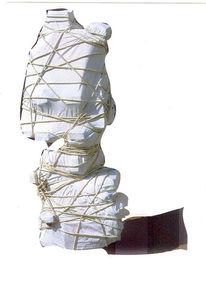 Leinentuch, Geheimnis, Seil, Digitale kunst