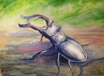 Insekten, Hirschkäfer, Käfer, Malerei
