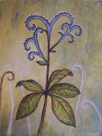 Abstrakt, Rittersporn, Blumen, Malerei