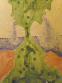 Fisch, Grün, Wasser, Malerei