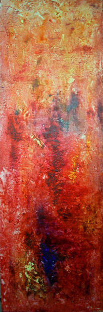 Blau, Rot, Malerei, Abstrakt