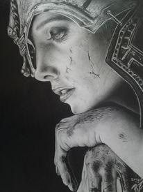 Portrait, Bleistiftzeichnung, Fantasie, Fotorealismus