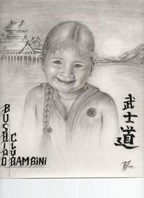 Kampfkunst, Portrait, Kind, Zeichnungen