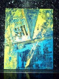 Gitter, Blautöne, Schrift, Grün