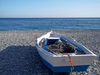 Weiß, Himmel, Boot, Meer